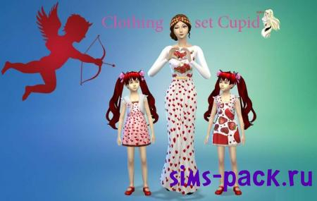 Набор одежды Clothing set Cupid для симс 4
