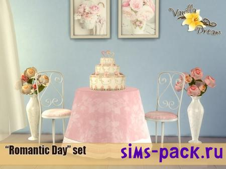Набор объектов Vanilla Dream Romantic Day set для симс 4